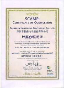 CMMI4级证书